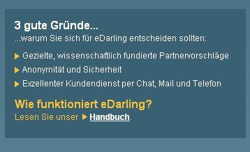 Der Singlebörsen Vergleich eDarling – Upzz!