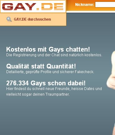 Schwulen Chat gratis in Web!